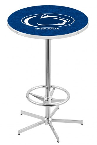 Penn State Nittany Lions Chrome Bar Table with Foot Ring