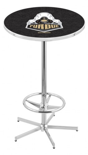 Purdue Boilermakers Chrome Bar Table with Foot Ring