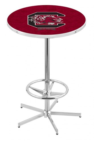 South Carolina Gamecocks Chrome Bar Table with Foot Ring