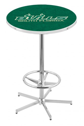 South Florida Bulls Chrome Bar Table with Foot Ring