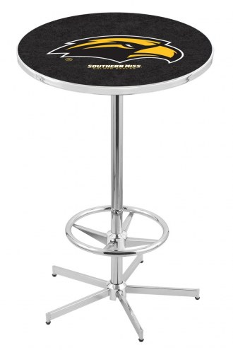 Southern Mississippi Golden Eagles Chrome Bar Table with Foot Ring