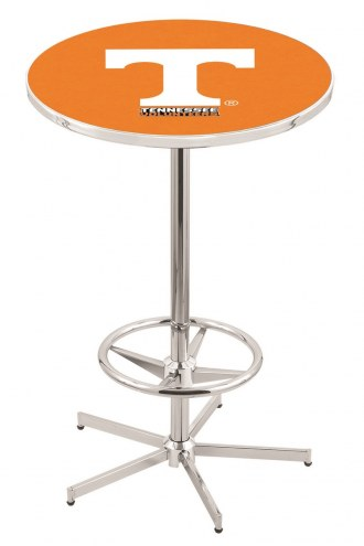 Tennessee Volunteers Chrome Bar Table with Foot Ring