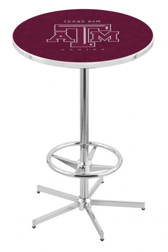 Texas A&M Aggies Chrome Bar Table with Foot Ring