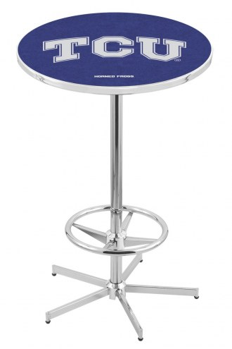Texas Christian Horned Frogs Chrome Bar Table with Foot Ring