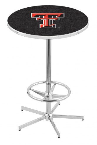 Texas Tech Red Raiders Chrome Bar Table with Foot Ring