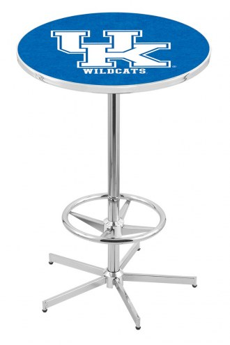 "Kentucky Wildcats ""UK"" Chrome Bar Table with Foot Ring"