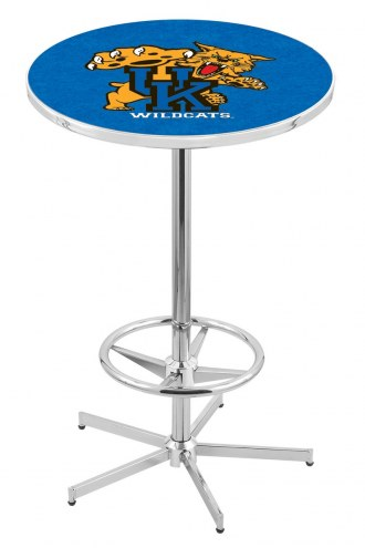 Kentucky Wildcats Chrome Bar Table with Foot Ring