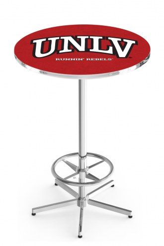 UNLV Rebels Chrome Bar Table with Foot Ring