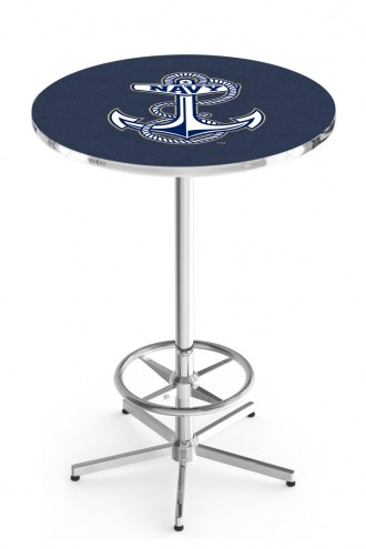 Navy Midshipmen Chrome Bar Table with Foot Ring