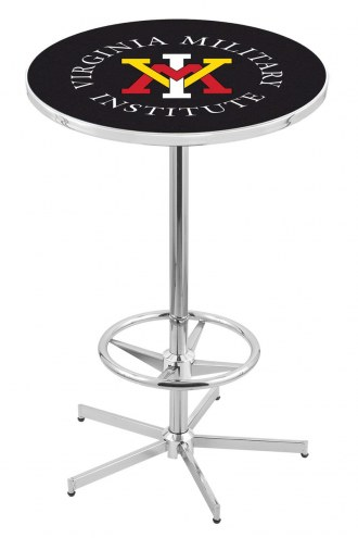 Virginia Military Institute Keydets Chrome Bar Table with Foot Ring