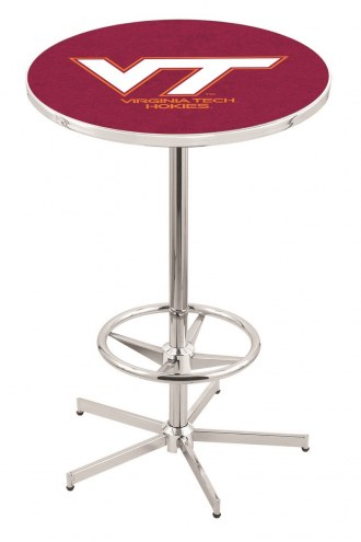 Virginia Tech Hokies Chrome Bar Table with Foot Ring