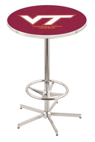 Virginia Tech Hokies Chrome Bar Table with Foot Ring