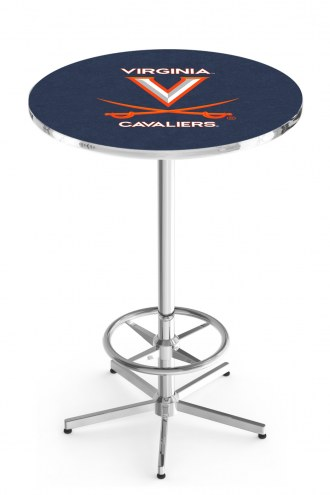 Virginia Cavaliers Chrome Bar Table with Foot Ring