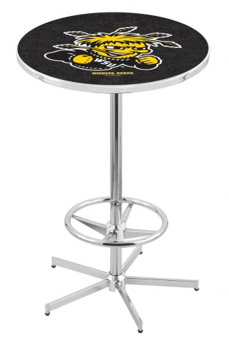 Wichita State Shockers Chrome Bar Table with Foot Ring