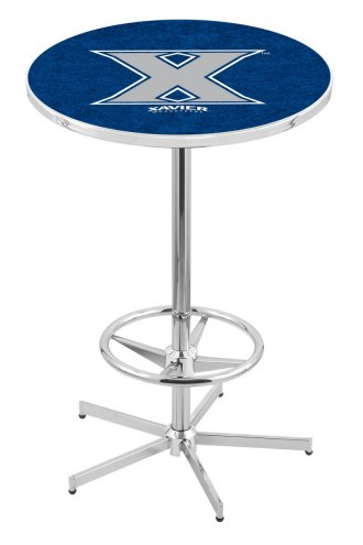 Xavier Musketeers Chrome Bar Table with Foot Ring