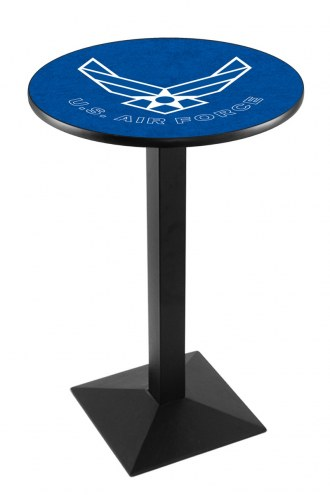 Air Force Falcons Black Wrinkle Pub Table with Square Base