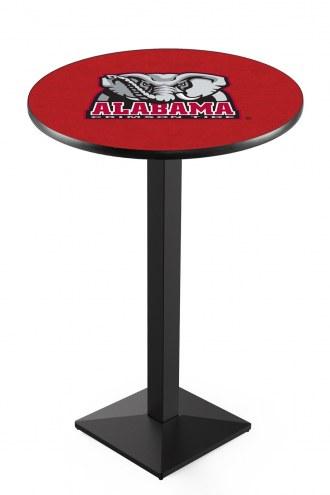 Alabama Crimson Tide Black Wrinkle Pub Table with Square Base