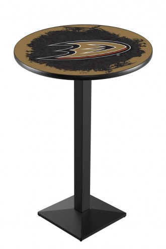 Anaheim Ducks Black Wrinkle Pub Table with Square Base