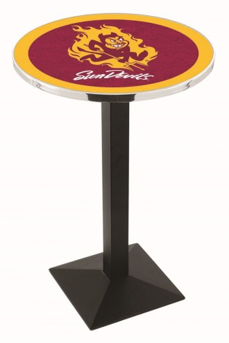 Arizona State Sun Devils Black Wrinkle Pub Table with Square Base