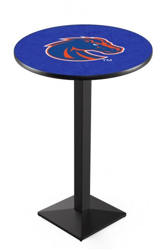 Boise State Broncos Black Wrinkle Pub Table with Square Base