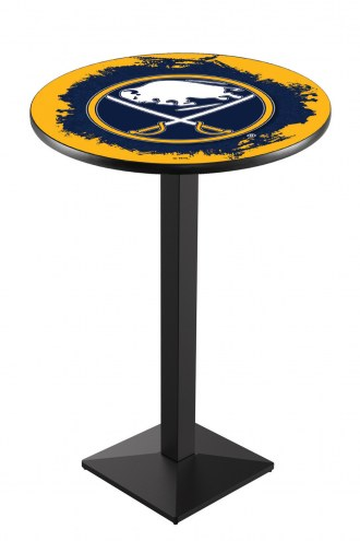Buffalo Sabres Black Wrinkle Pub Table with Square Base