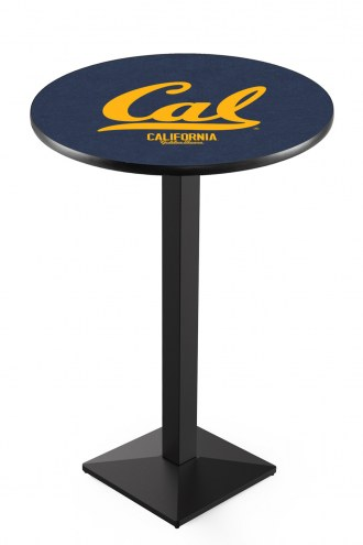 California Golden Bears Black Wrinkle Pub Table with Square Base