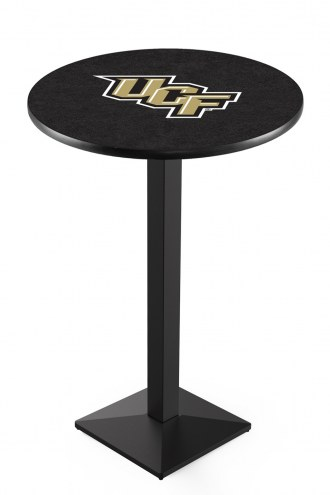 Central Florida Knights Black Wrinkle Pub Table with Square Base