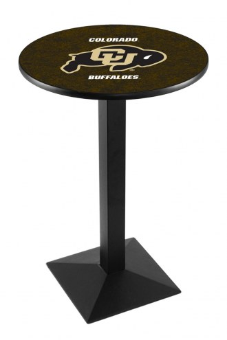 Colorado Buffaloes Black Wrinkle Pub Table with Square Base