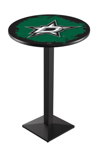 Dallas Stars Black Wrinkle Pub Table with Square Base