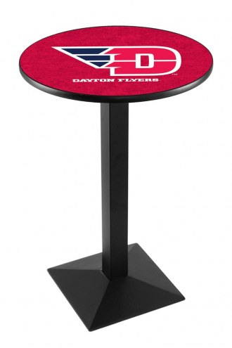 Dayton Flyers Black Wrinkle Pub Table with Square Base