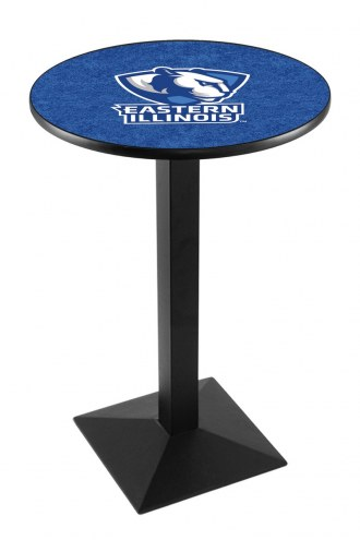 Eastern Illinois Panthers Black Wrinkle Pub Table with Square Base