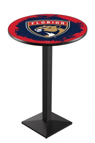 Florida Panthers Black Wrinkle Pub Table with Square Base