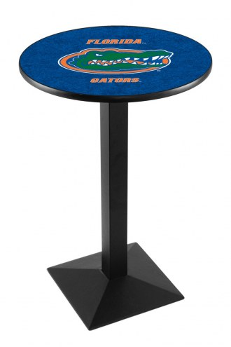 Florida Gators Black Wrinkle Pub Table with Square Base