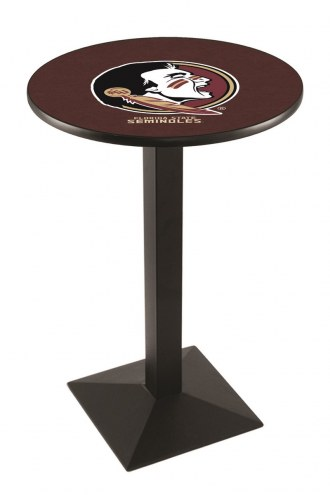 Florida State Seminoles Black Wrinkle Pub Table with Square Base