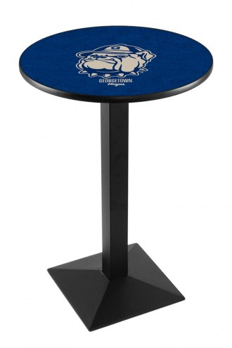 Georgetown Hoyas Black Wrinkle Pub Table with Square Base