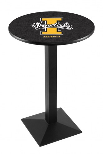 Idaho Vandals Black Wrinkle Pub Table with Square Base