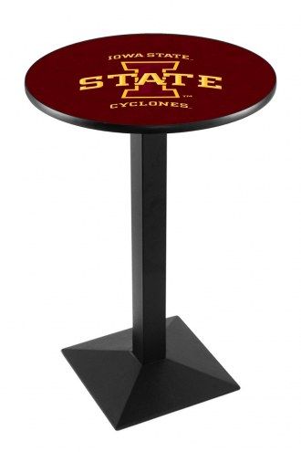 Iowa State Cyclones Black Wrinkle Pub Table with Square Base