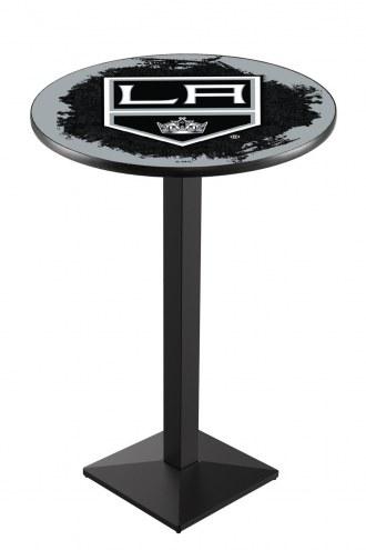 Los Angeles Kings Black Wrinkle Pub Table with Square Base
