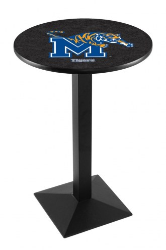 Memphis Tigers Black Wrinkle Pub Table with Square Base
