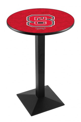 North Carolina State Wolfpack Black Wrinkle Pub Table with Square Base