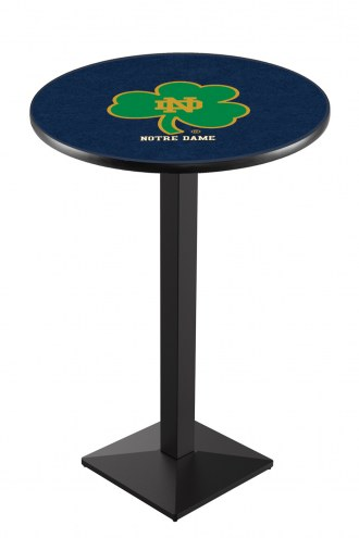 Notre Dame Fighting Irish Smamrock Black Pub Table with Square Base