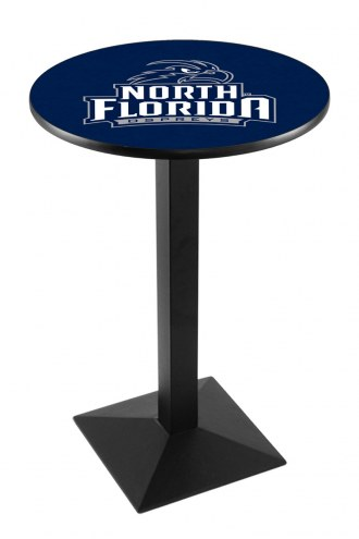 North Florida Ospreys Black Wrinkle Pub Table with Square Base