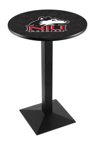 Northern Illinois Huskies Black Wrinkle Pub Table with Square Base