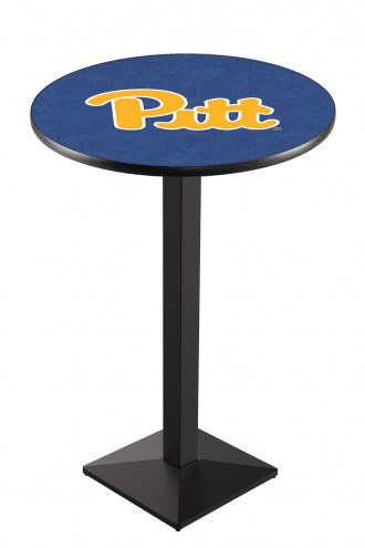 Pittsburgh Panthers Black Wrinkle Pub Table with Square Base