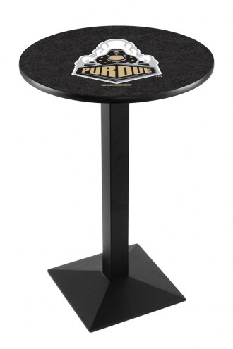 Purdue Boilermakers Black Wrinkle Pub Table with Square Base