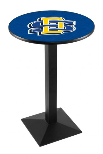 South Dakota State Jackrabbits Black Wrinkle Pub Table with Square Base