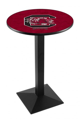 South Carolina Gamecocks Black Wrinkle Pub Table with Square Base