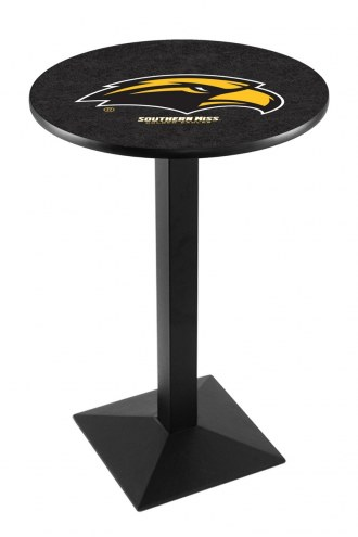 Southern Mississippi Golden Eagles Black Wrinkle Pub Table with Square Base