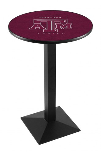 Texas A&M Aggies Black Wrinkle Pub Table with Square Base