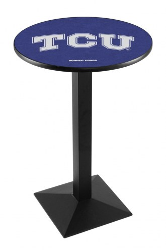 Texas Christian Horned Frogs Black Wrinkle Pub Table with Square Base